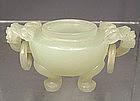 Antique Chinese Jade Miniature Censer