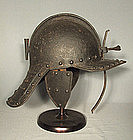 Antique Lobstertail Cromwellian Helmet Armor 17th centu
