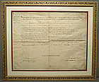 Antique Napoleonic Document Signed Marie Louise 19th c.