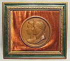 Antique Napoleonic Medal Napoleon & Josephine, 19th c.