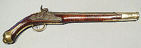 Antique American Trade Gun Pistol, 18th century