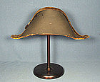 Antique Imperial Russian Navy officer Bicorn Cocked Hat