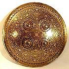 18th c Gold Damascened Indo Persian Shield