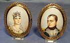 Antique Napoleonic Miniature Napoleon and Marie Louise
