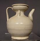 Song Dynasty White-Glazed Ceramic Ewer, 960-1279 AD
