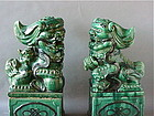 Antique Chinese Ceramic Foo Dogs Qing Dynasty large