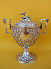 S Kirk & Sons American Sterling Repousse Covered Urn