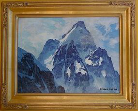 California Impressionist Mt. Landscape Leland Curtis