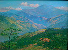 Hawaiian Landscape original oil  David H. Hitchcock