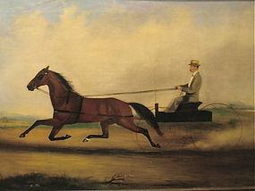 Trotter Horse gentleman and wagon Van Zandt 1872