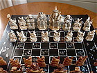 Antique Chinese carved Ivory Chess men Game Set