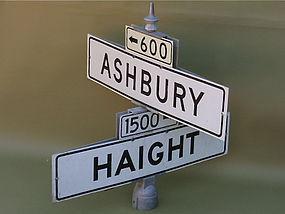 Haight Ashbury San Francisco original street signs