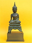 Antique Bronze Buddha Thailand c.1600