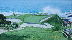 Pebble Beach Golf Course 7th hole James March Phillips