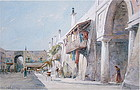 James Smille watercolor Nice France exhibited AWA