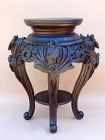 Japanese Art Nouveau carved Urn stand