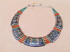 Antique Tibetan tribal Necklace turquoise coral silver
