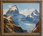Leland Curtis Teton Glacier Wyoming Oil Painting