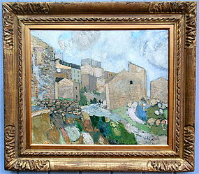 Rene Genis Landscape Oil painting Polombaro Italy