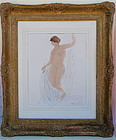 Auguste Rodin watercolor nude female painting c. 1907