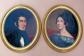 Early American Portraits Man Woman c.1840