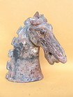 Chinese Tang Dynasty pottery horse head 618-906
