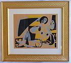 Hap Grieshaber Woodblock print Eros 2