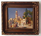 Orientalist View of a Mosque Gustav A. Hensel