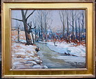 Winter Snows By Frederic Wagner American impressionist
