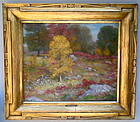 Impressionist Fall Landscape Connecticut Henry H. Ahl