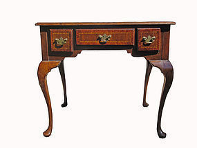 19th C. English Lowboy with Compass Rose Inlay