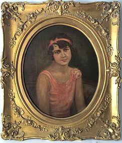 Portrait of a Young Woman by Hoffman Art Nouveau