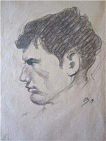 Balthus Original Drawing Portrait of a Man Provenance