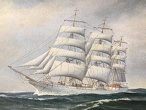 Maritime Portrait Schooner Danmark Christen Pedersen