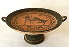 Antique Greek pottery kylix antiquity