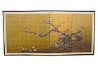 Antique Japanese byob folding screen Kaiko G