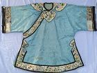 Chinese antique embroidered silk robe Asian textile