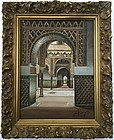 Orientalist painting Islamic architecture Seville Spain Liger