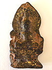 Antique Thai Buddha Amulet gold gilt