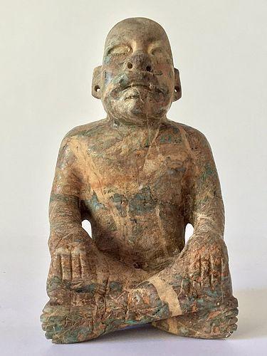 Olmec Pre Columbian Jade Figure