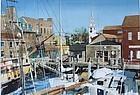 Watercolor Bowen's Wharf Newport Rhode Island by Glover