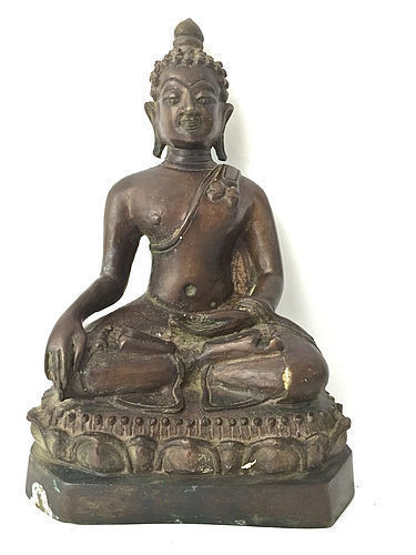 Antique Bronze Buddha Southeast Asia