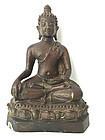 Antique Bronze Buddha Southeast Asia