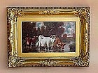 Cattle Watering by a Stream by Gregory Hollyer