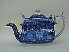 Staffordshire Transferware Tea Pot Caging Bird c. 1820