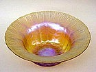 Tiffany Favrille Art Glass Bowl Signed L.C. Tiffany