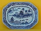 Antique Chinese export porcelain Fitzhugh platter