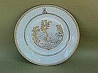 Chinese Export Porcelain plate Erotic scene c.1790