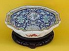 Chinese Export Famille Verte rose bowl