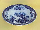 Flow Blue Bowl Sobraon Chinoiserie pattern c.1850